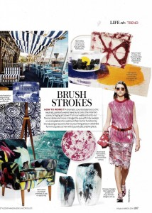 Photowall Watercolours Collection Abstract Blue Mural  Instyle Magazine March Edition
