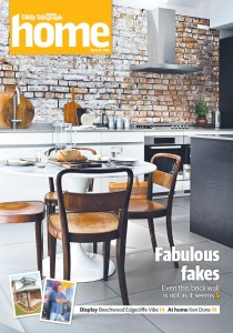 Photowall Faux Walls Collection Aged Brick Mural Daily Telegraph Home Magazine Cover