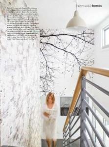 Scandinavian Surface Collection Black Beech Mural Australian Home & Beautiful Magazine