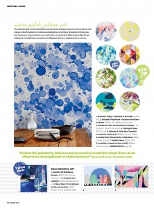 Photowall Watercolour Collection Blue Drops Mural  Inside Out Magazine Stylist Paige Noelle Photography Guy Bailey