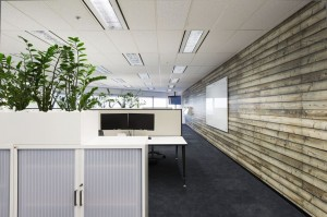 Communications Collection Knock On Wood Mural ASX Office Fitout by MKDC Workspace Design