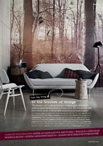 Creativity Collection Magical Forrest Mural Inside Out Magazine Styled by Glen Proebstel Photographer Sharyn Cairns