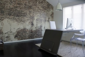 Faux Walls Collection Aged Brick Mural Luisa Interior Design Office