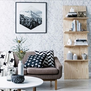 Mimou Origami Wallpaper Homes Plus Magazine Stylist Kerrie-Ann Jones Photography Maree Homer