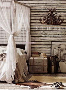 Old Wooden Wall Mural from Captured Reality Collection Real Living Magazine Styling Jackie Brown
