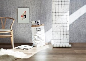 Rebel Walls Plain Concrete Light Grey Mural and Marbles Tiles Mural Norsu Interiors Catalogue Image  Photography Armelle Habib Styling Julia Green from Greenhouse Interiors