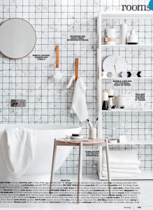 Rebel Walls Frontage Collection Marble Tiles Mural  Real Living Magazine Styling Jackie Brown Photography Felix Forest 2