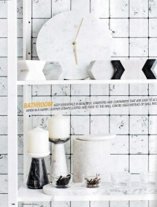 Rebel Walls Frontage Collection Marble Tiles Mural  Real Living Magazine Styling Jackie Brown Photography Felix Forest