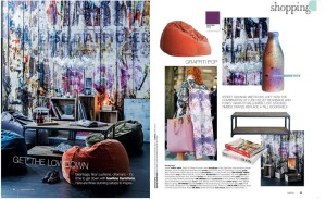 Rebel Walls Graffiti On Boards Mural Real Living Magazine Styling Jackie Brown