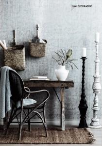 Rebel Walls Plain Concrete Light Grey Mural House And Garden Magazine Stylist Ashley Pratt Photography Maree Homer