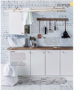 Rebel Walls Well Worn Brick Mural Kitchen Setting Real Living Magazine Stylist Jackie Brown Photography Maree Homer