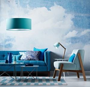 Clouds Mural. Styling Ruth Welsby.  Photography Mike Baker. The Sunday Age. Image copyright Fairfax Media