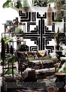 Photowall Tribal Collection Tribe White Black Mural Belle Magazine Styling Steve Cordony