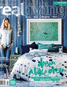 Photowall Faux Walls Collection Vintage Wood Blue Mural Real Living Magazine Cover Stylist Sarah Ellison