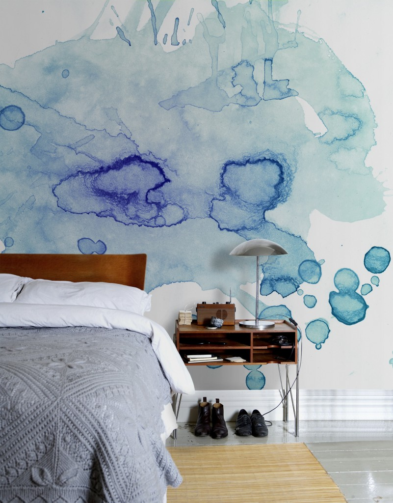 Watercolours Scandinavian wallpaper and decor