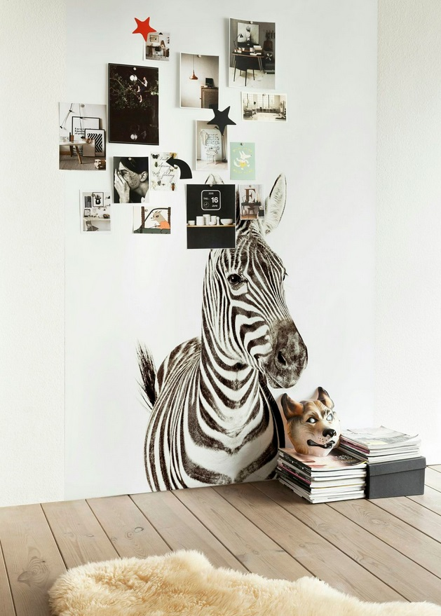 Magnetic Printed Zebra Wallpaper from Scandinavian Wallpaper & Decor: www.wallpaperdecor.com.au/magnetic-wallpaper