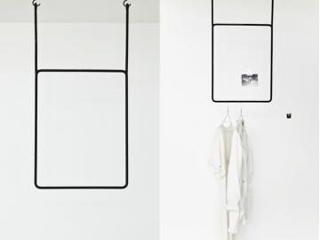 clothing rail vertical. Black Bedroom Furniture Sets. Home Design Ideas