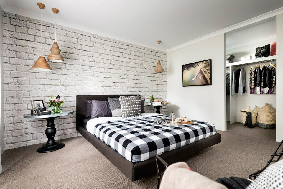 Faux Walls Collection White Brick Mural Brando Display Home
