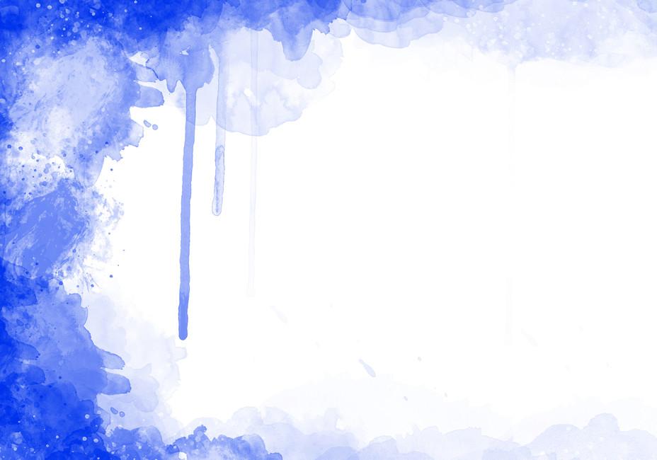 Abstract Watercolour Vivid Watercolor Blue