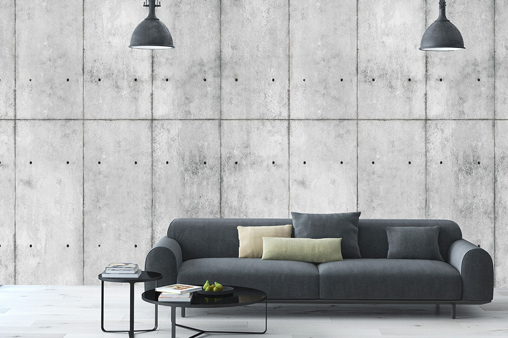 Wall Paper Decoration Design : Concrete japanese