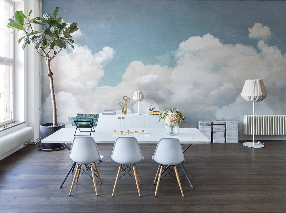 Cuddle clouds for Clouds wall mural