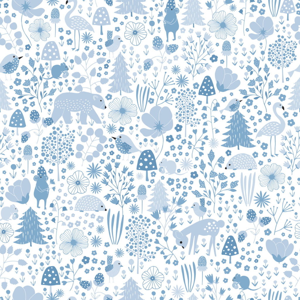 Ice Cream Wallpaper In Soft Blues And Multi From The Dream: Cathy Nordström