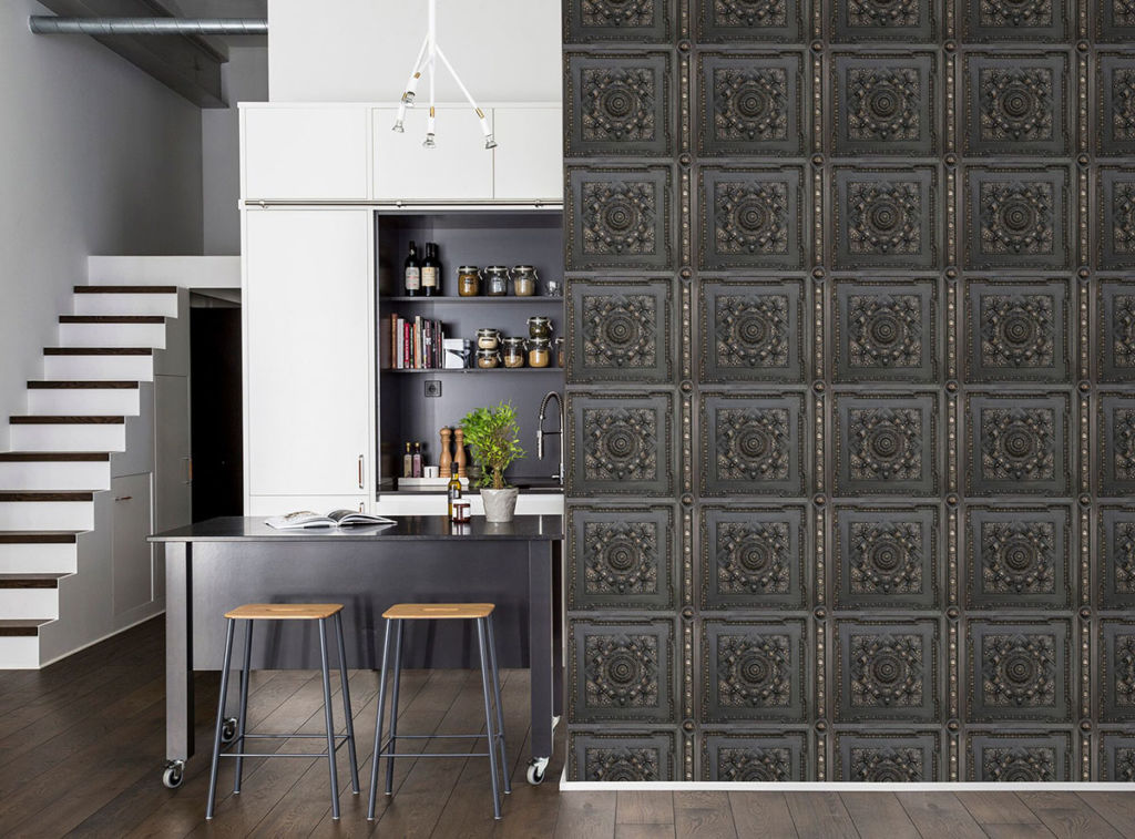 dark cabinets in kitchen rebel walls 14431